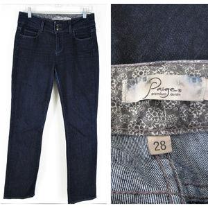 PAIGE Jeans - Paige Hidden Hills Dark Wash Straight Jeans